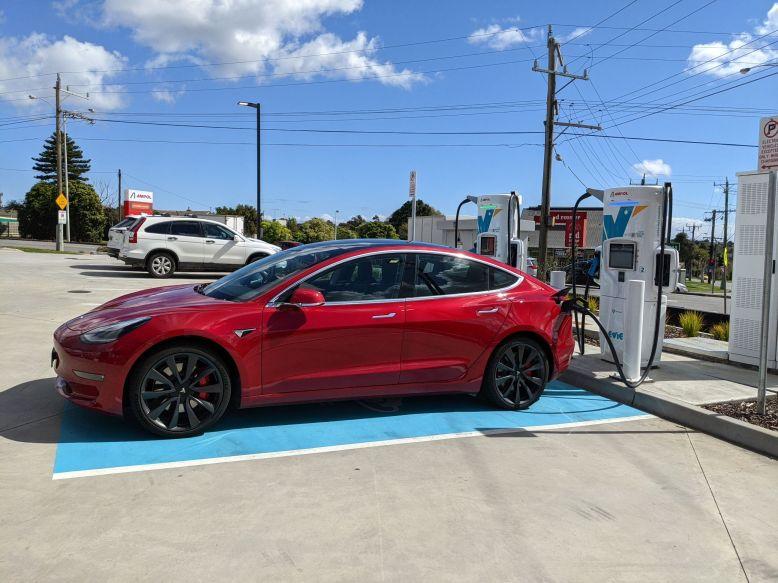 Tesla Model 3 charging Melbourne